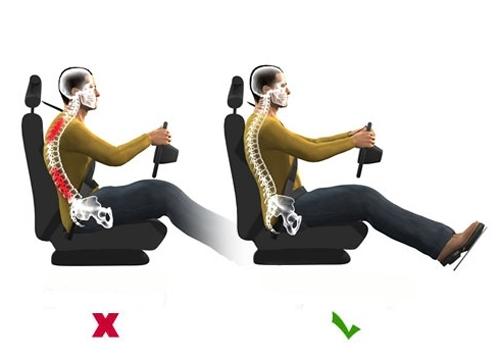 Khoảng cách giữa lưng và ghế